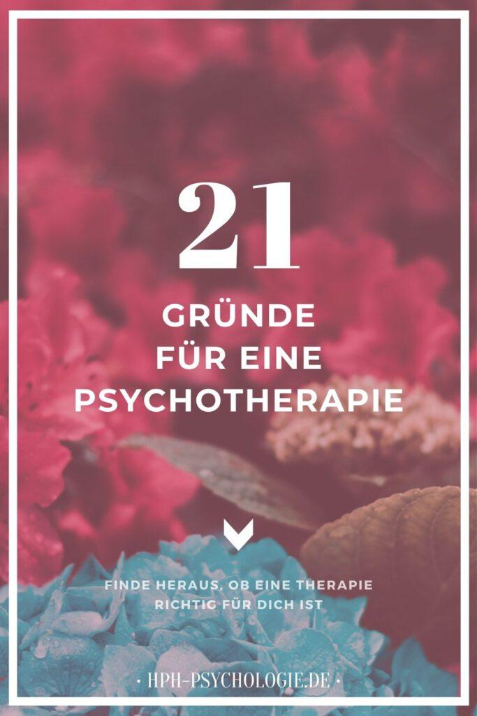Welche Gründe sprechen für eine Psychotherapie?