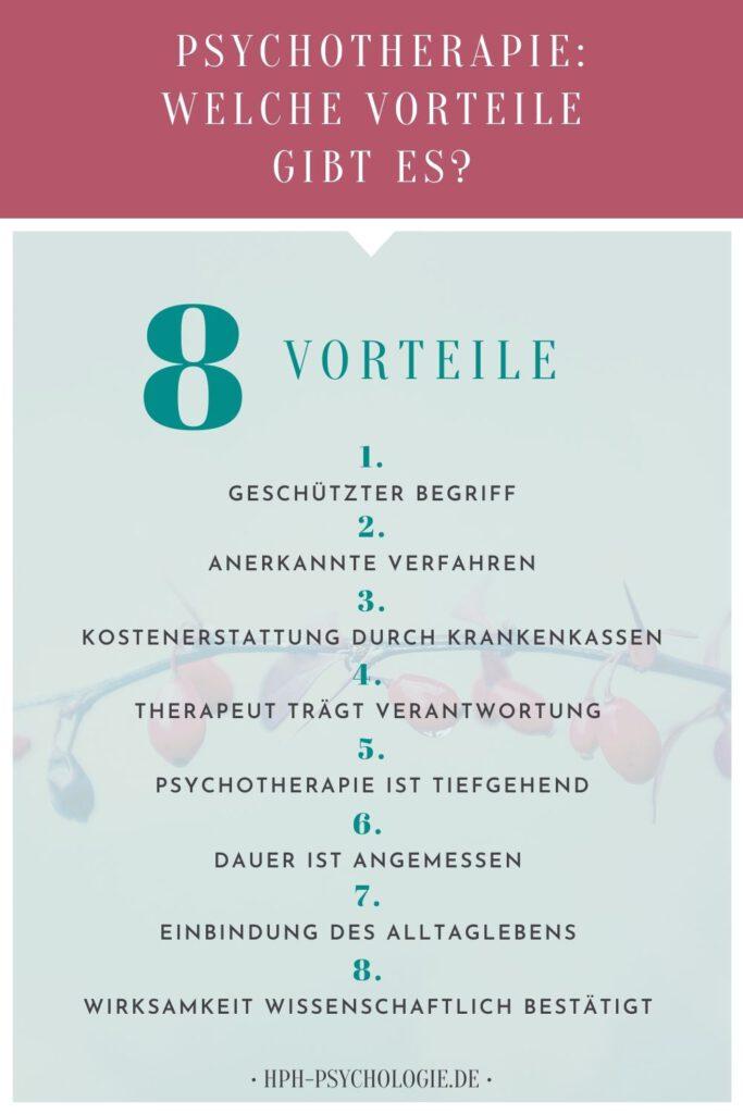Psychotherapie hat 8 Vorteile