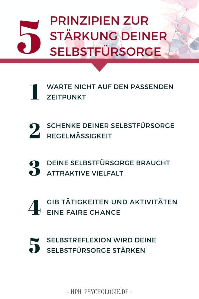 5 Prinzipien, wie du deine Selbstfürsorge stärken kannst
